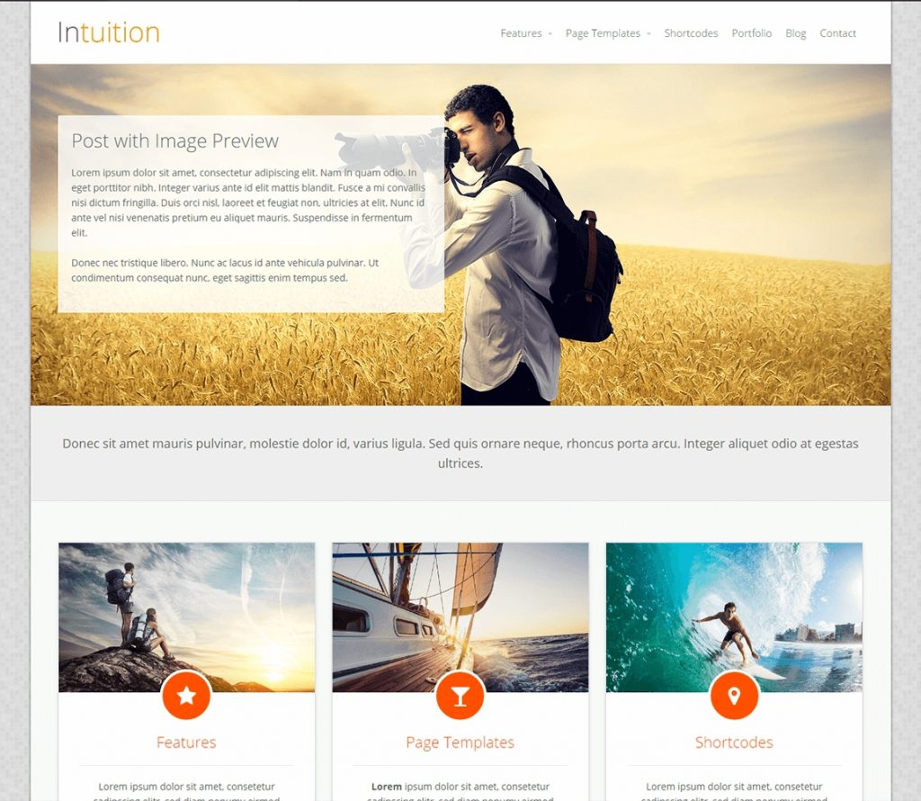 Intuition libre wp blog tema