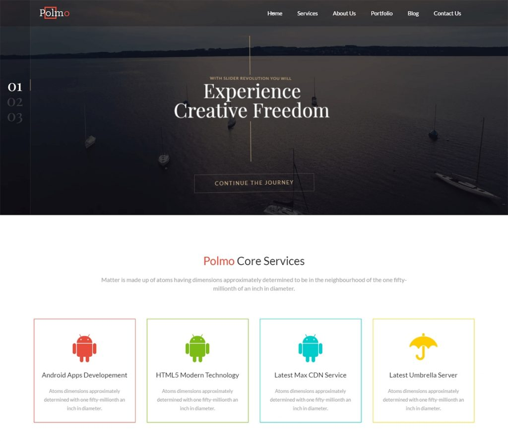 Polmo - tema de wordpress