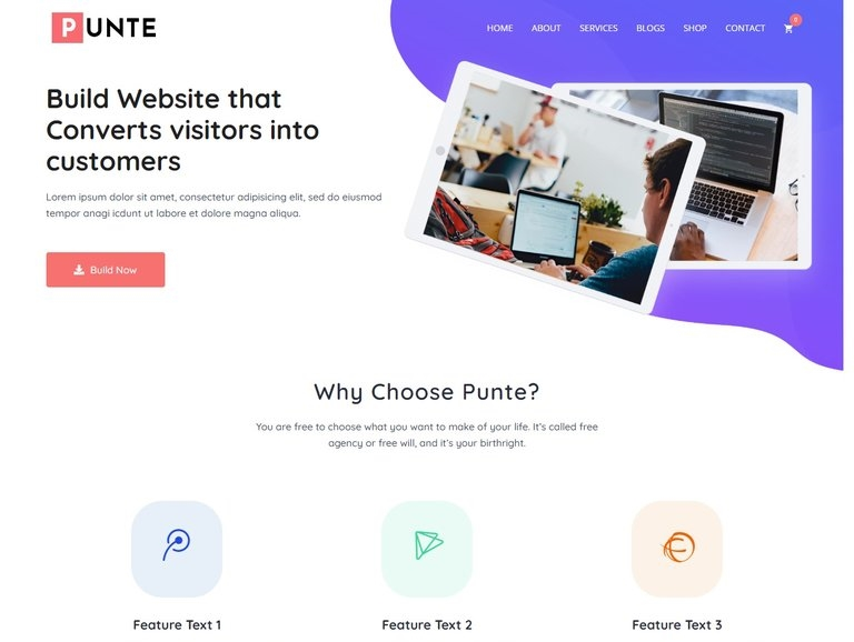 Punte Multipurpose WordPress Theme