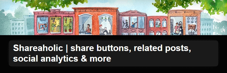 Shareaholic share buttons WordPress Plugin