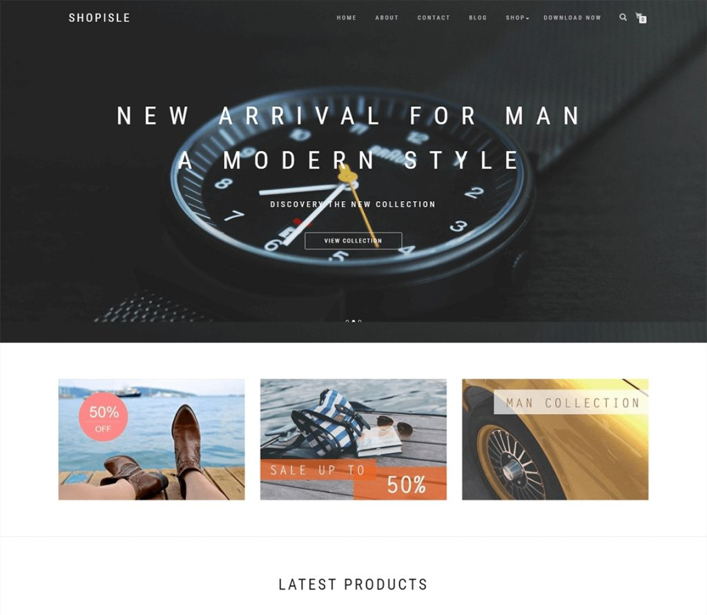 ShopIsle free wordpress theme for online shop