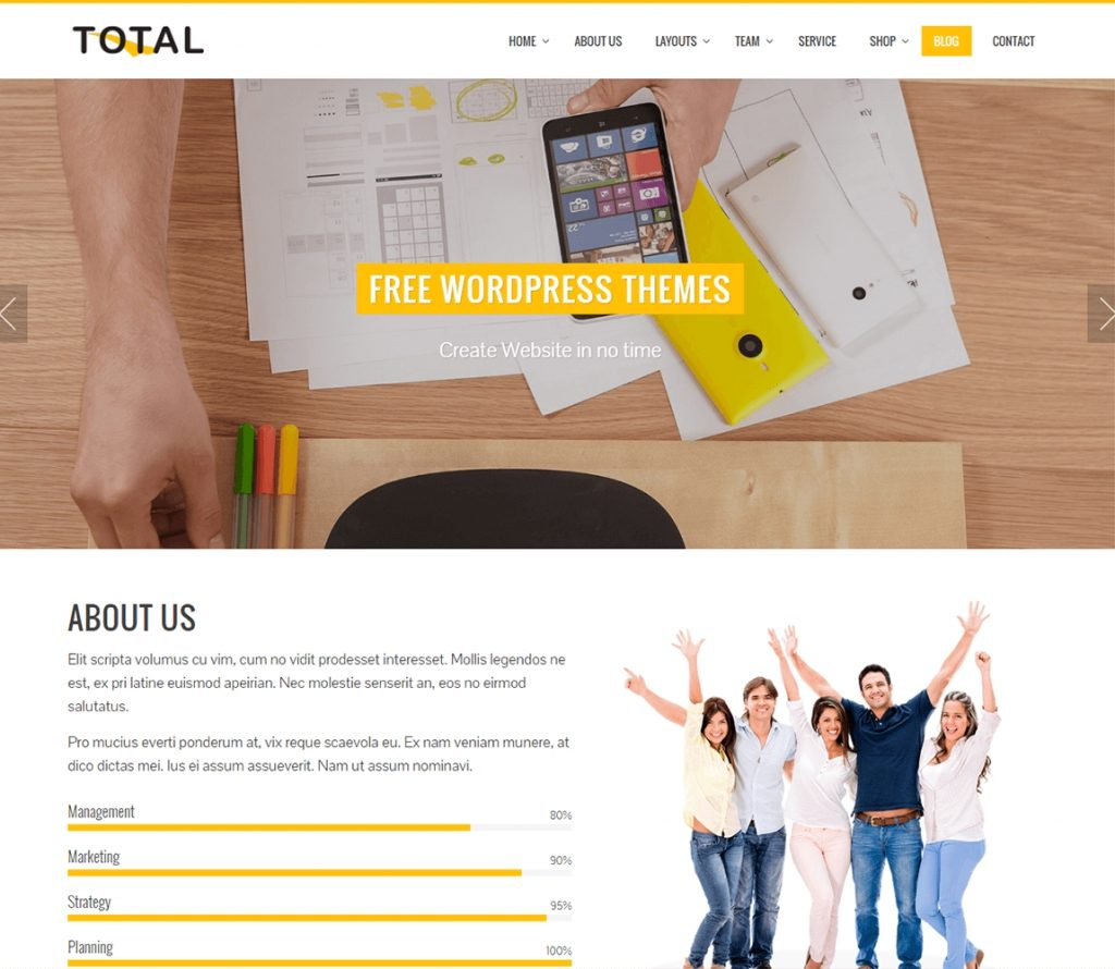 Total wp tema multiusos gratis