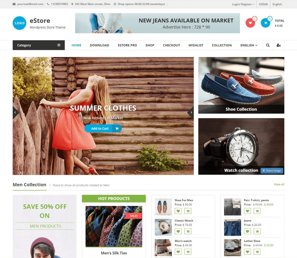E Best Free WordPress Ecommerce Theme