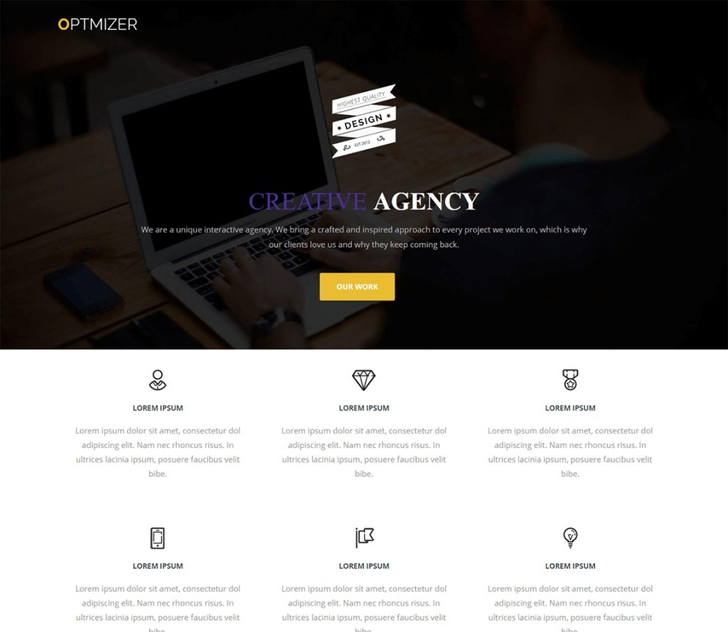 optimizer -free wordpress themes