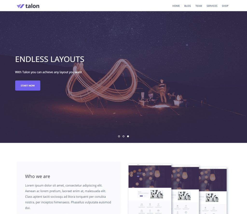 talon-free-multipurpose-wordpress theme