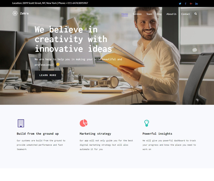 best free wordpress themes for it company