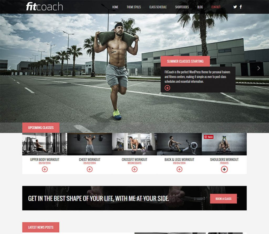 Fitcoach-modern free wordpress fitness theme