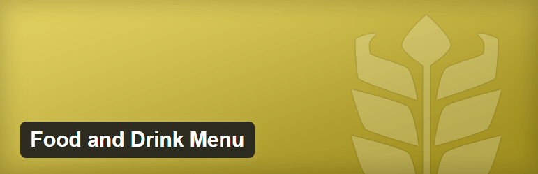 Food and Drink Menu best WordPress restaurant menu Plugins