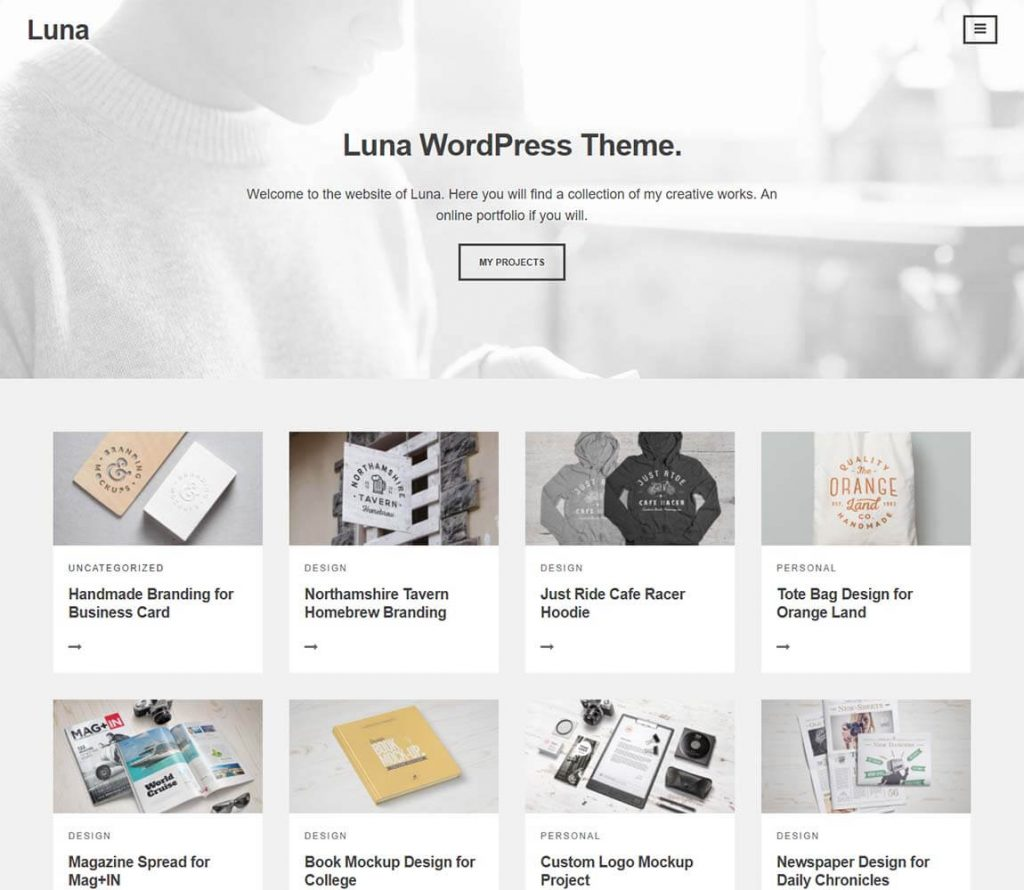 Luna-A-WordPress-theme-for-Creative-Collections