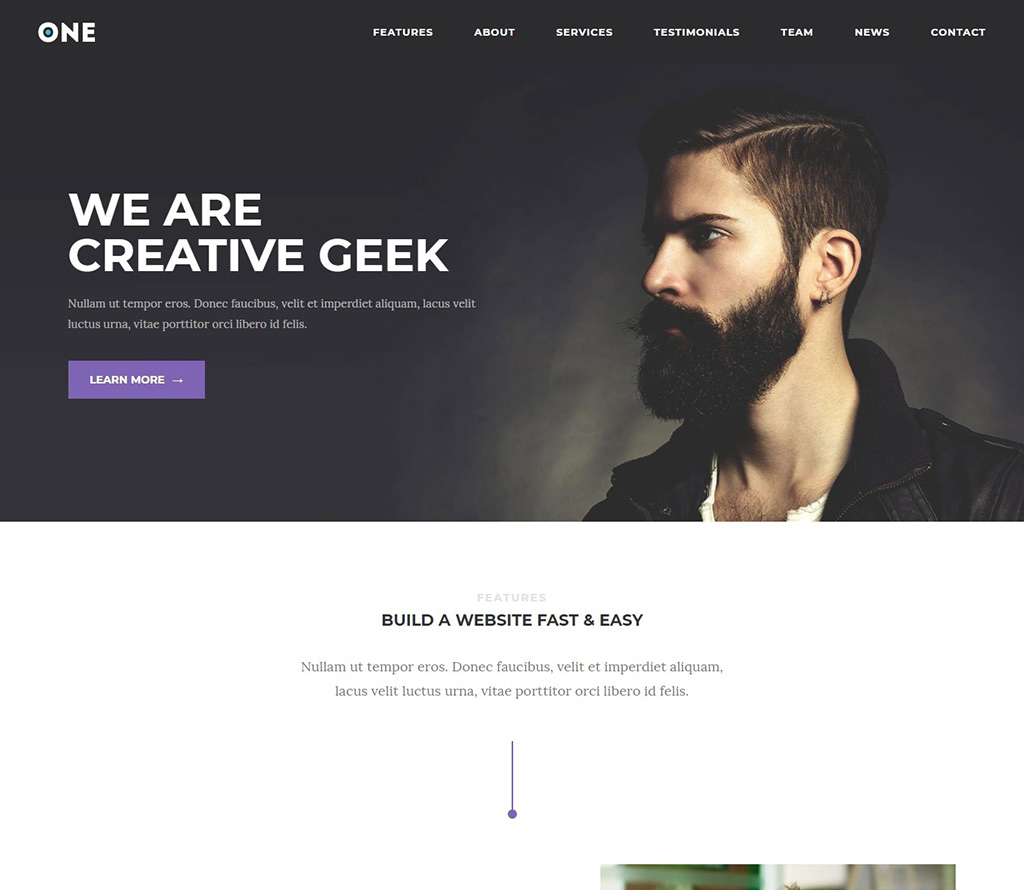 Meridian-One-WP-One-page-theme