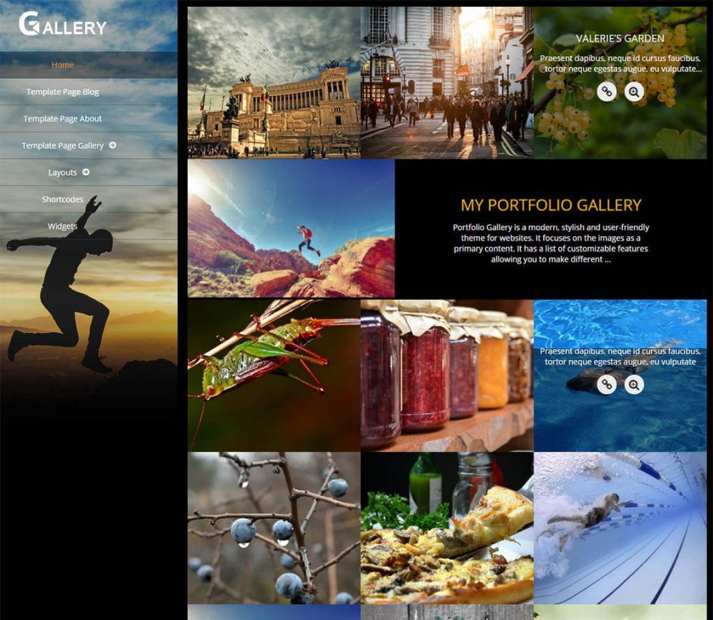 Portfolio Gallery best free portfolio theme for wordpress