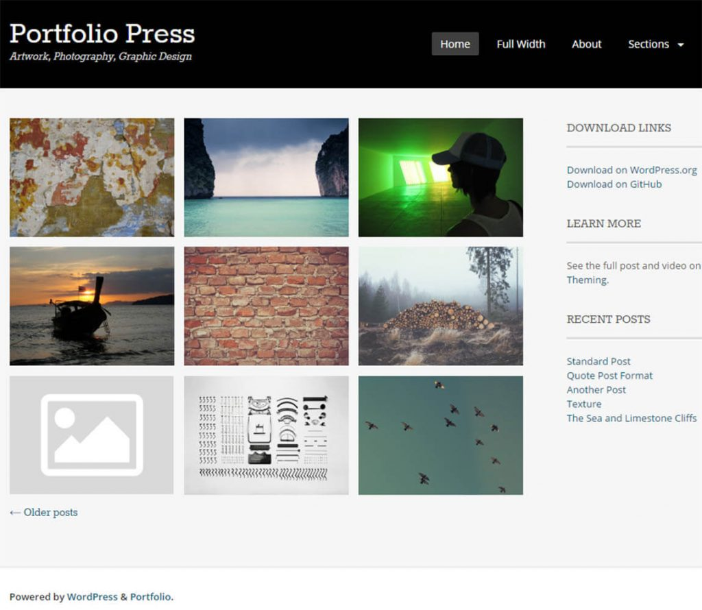 Portfolio Press – Artwork Photography Graphic Design portfolio theme