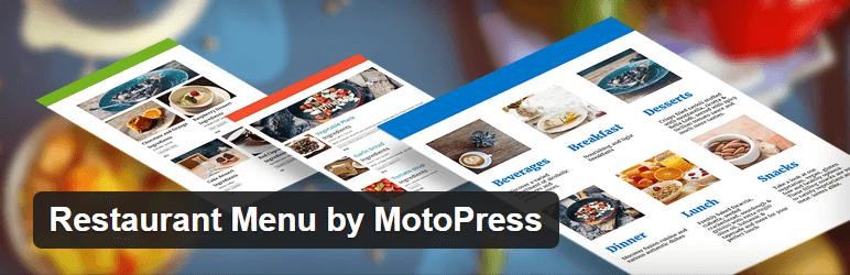 Restaurant Menu door MotoPress gratis WordPress Plugin