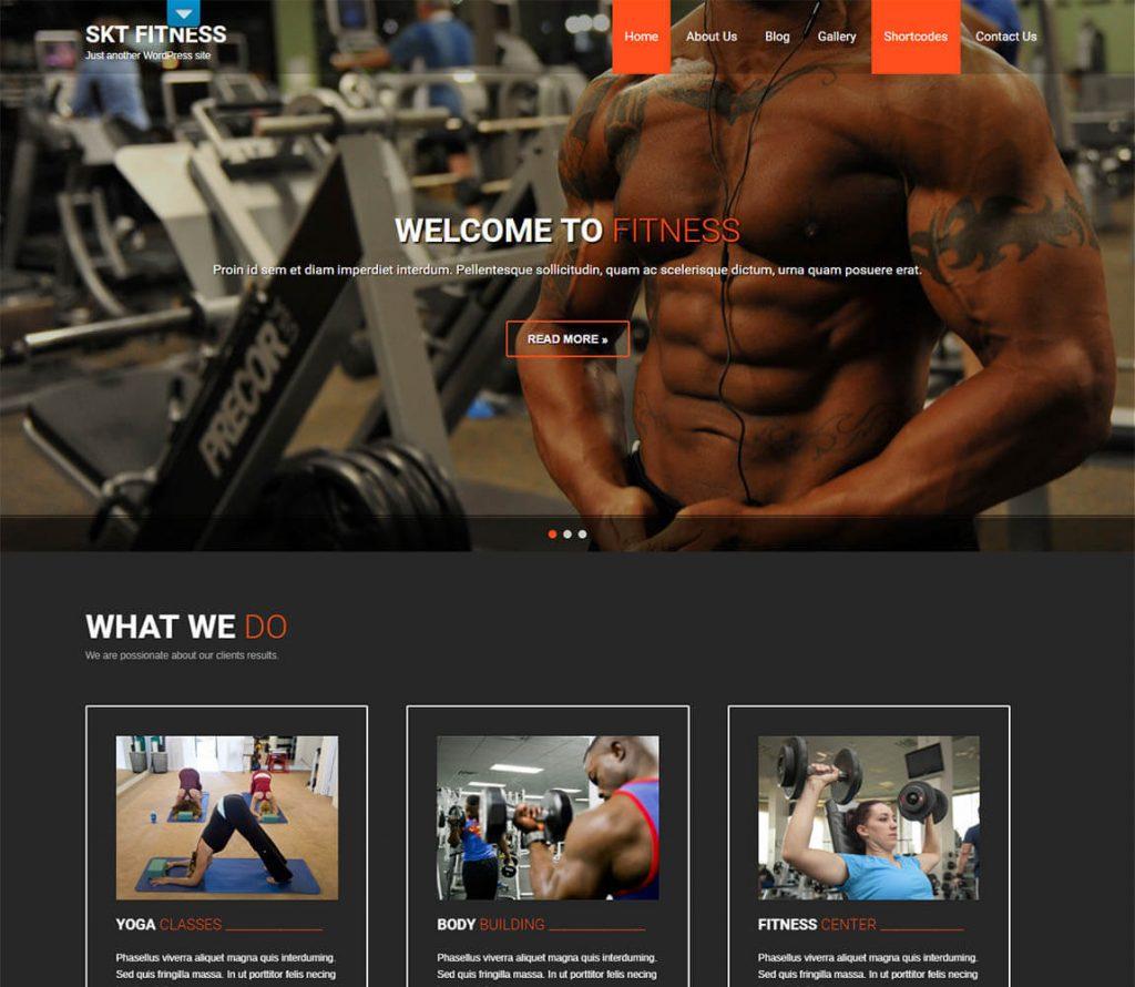 SKT Fitness lite free wordpress theme
