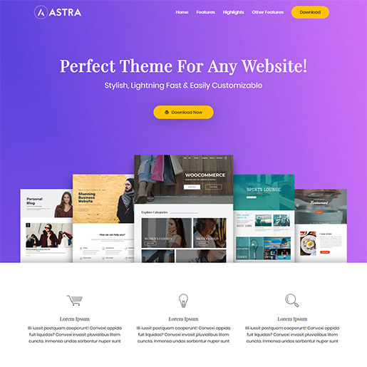 astra-free-wp-theme-landing-page-demo