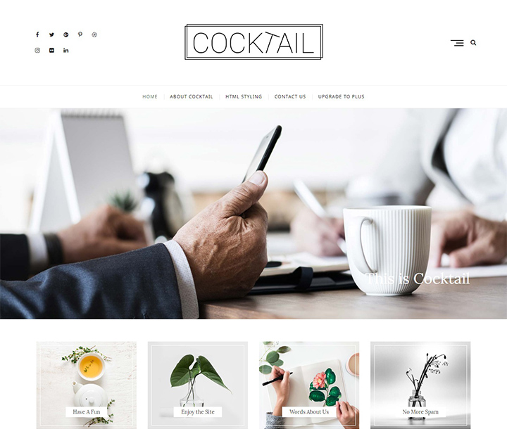 cocktail-free-wordpress-portfolio-theme