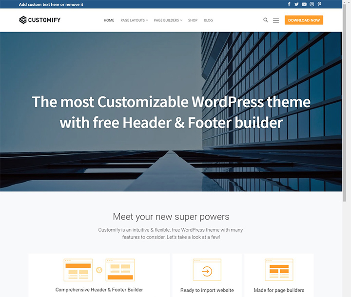 customify-free-wordpress-portfolio-theme