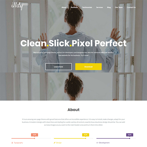 free Portfolio WordPress themes- illdy