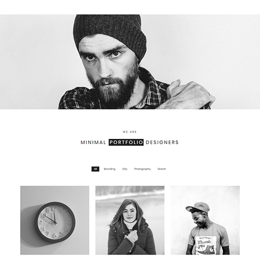 free porfolio WordPress themes - minimal portfolio