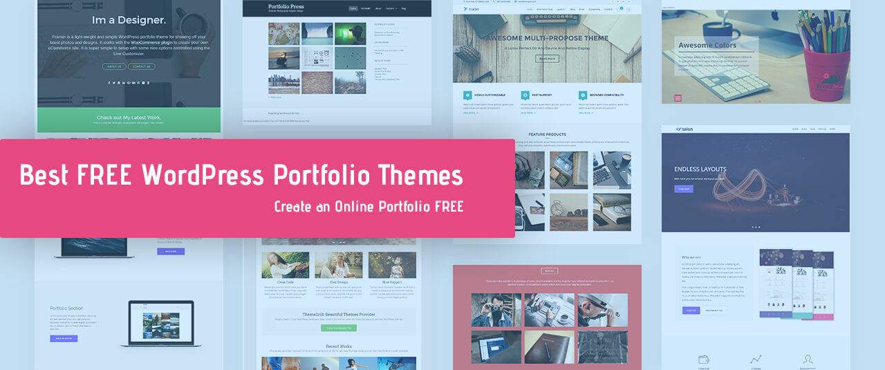 25 best free portfolio wordpress themes templates 2019