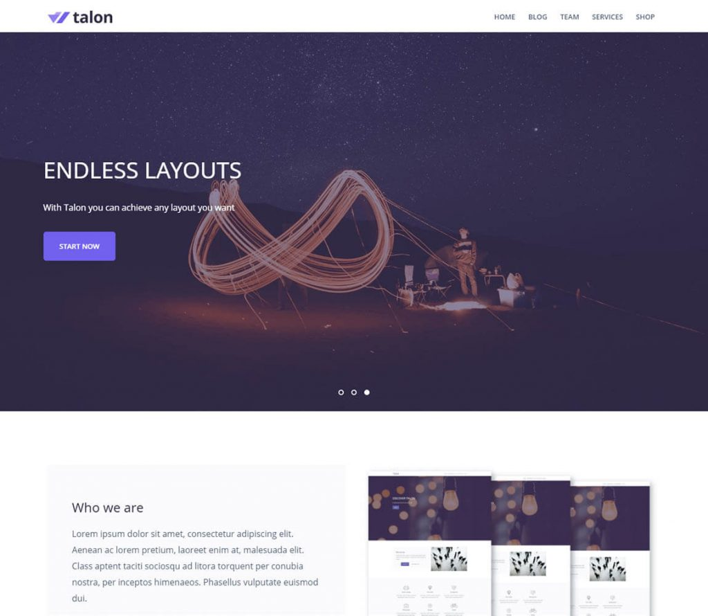 talon-best-free-portfolio-wordpress theme