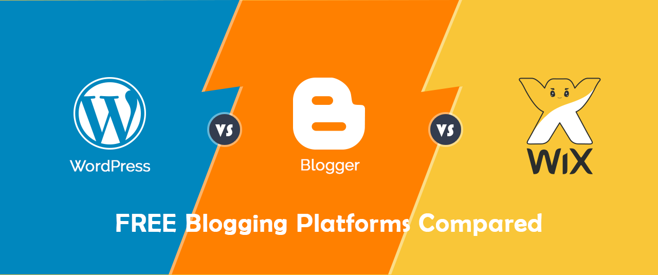 WordPress Vs Blogger Vs Wix: Top 3 Blogging Platforms Compared