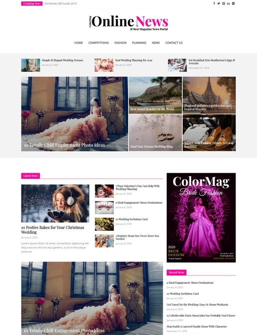 ColorMag Pro Online News Theme