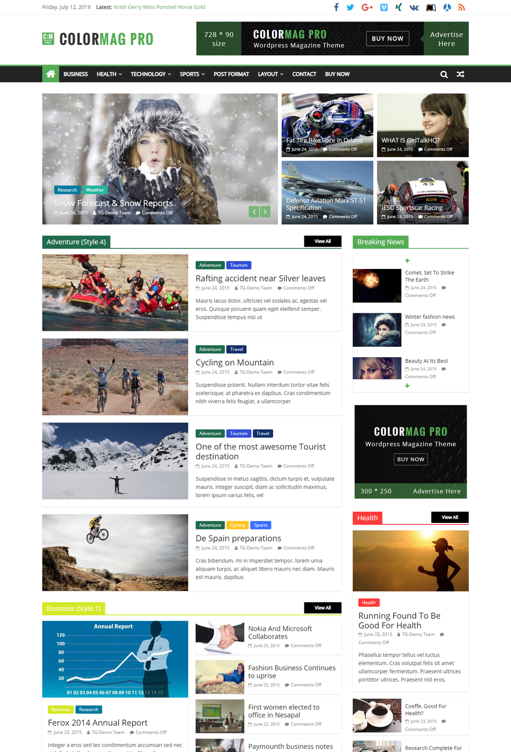 ColorMag Pro Best WordPress Magazine Theme