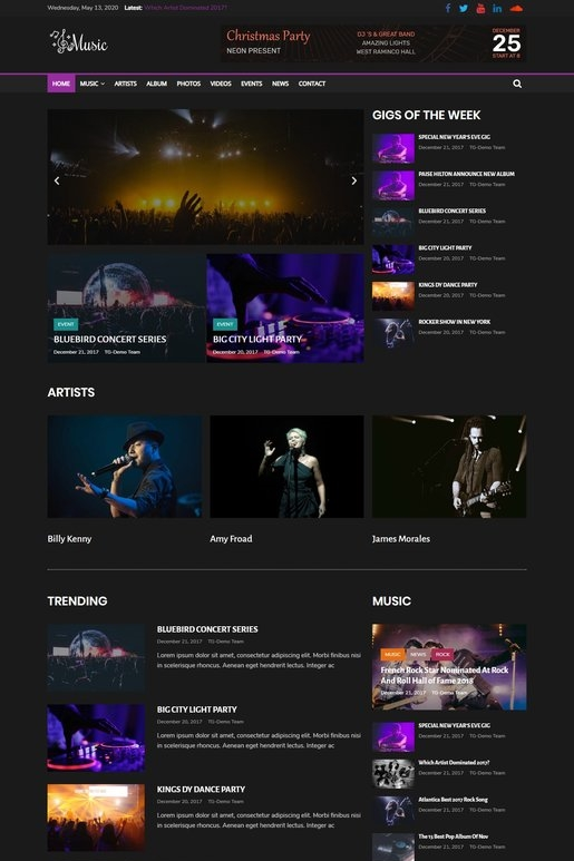 ColorMag Pro Music Theme