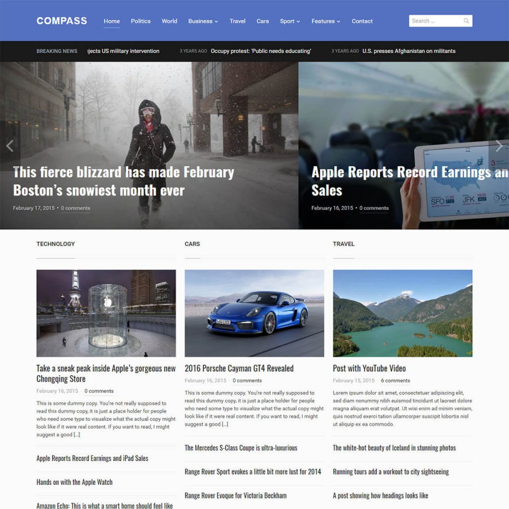 Compass – Magazine Theme for WordPress