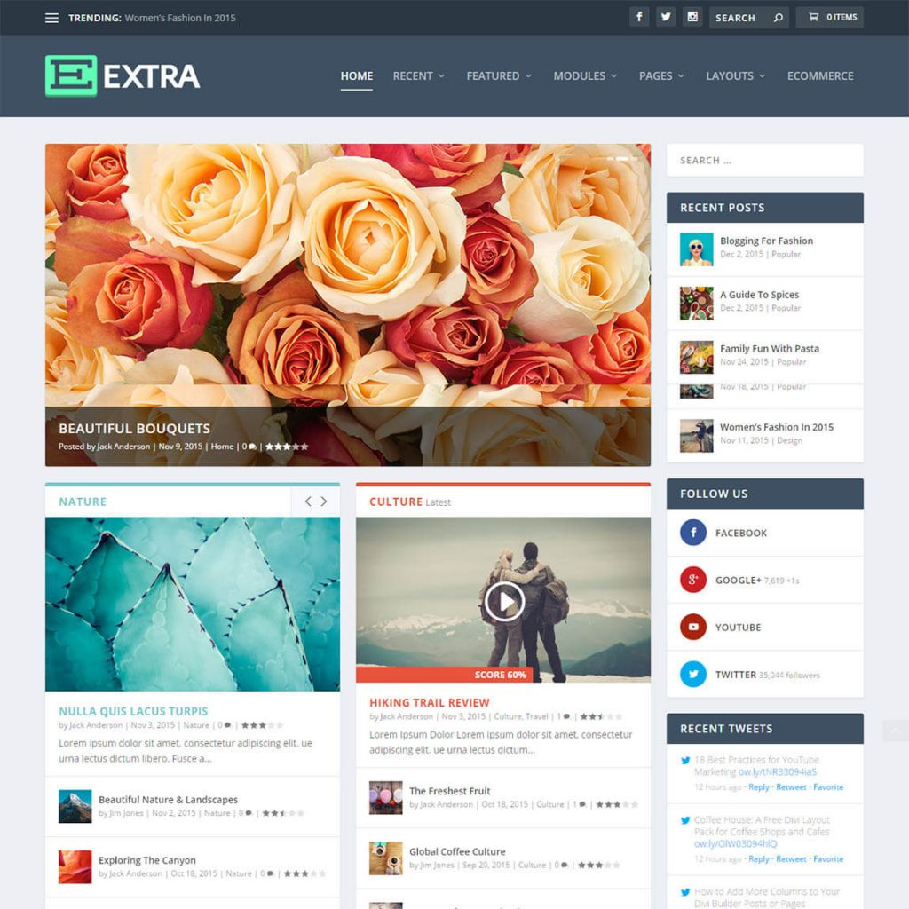 Extra - extraordinary wordpress magazine theme