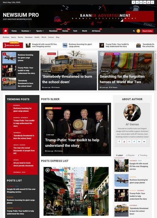 Newsium - Premium News Magazine WordPress Theme