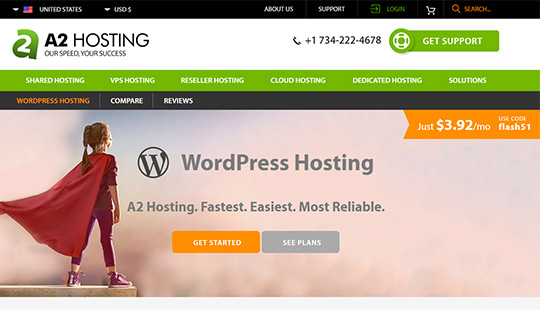 A2Hosting- best WordPress hosting