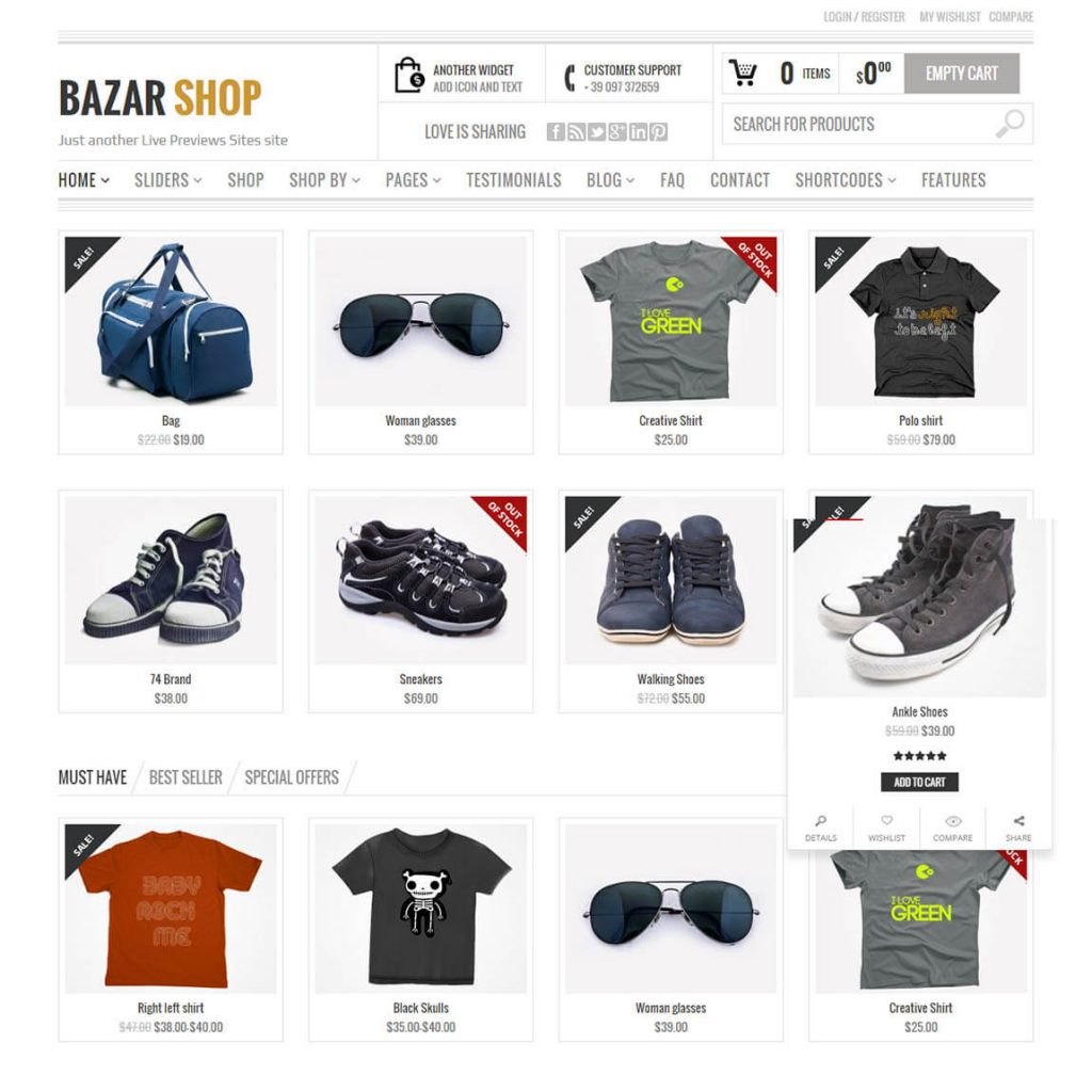 Bazar [SHOP] wordpress woocommerce theme