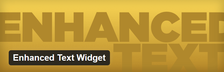 Enhanced Text Widget — WordPress Plugins
