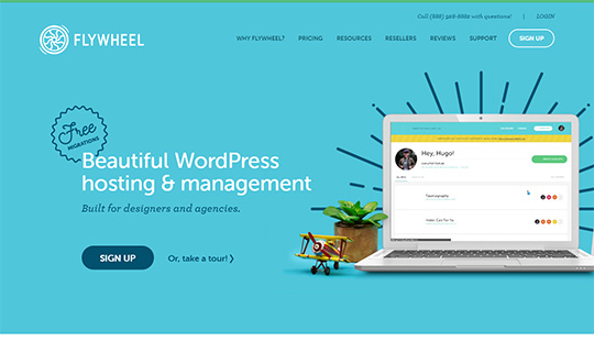 Flywheel Hosting- best managed WordPress hosting