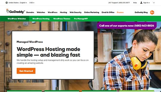 GoDaddy Hosting- best WordPress hosting