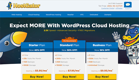 HostGator Hosting- best WordPress hosting