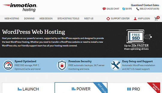 InMotion Hosting- best WordPress hosting