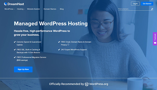 DreamHost Managed WordPress Hosting Affordable Professional Managed WordPress Hosting