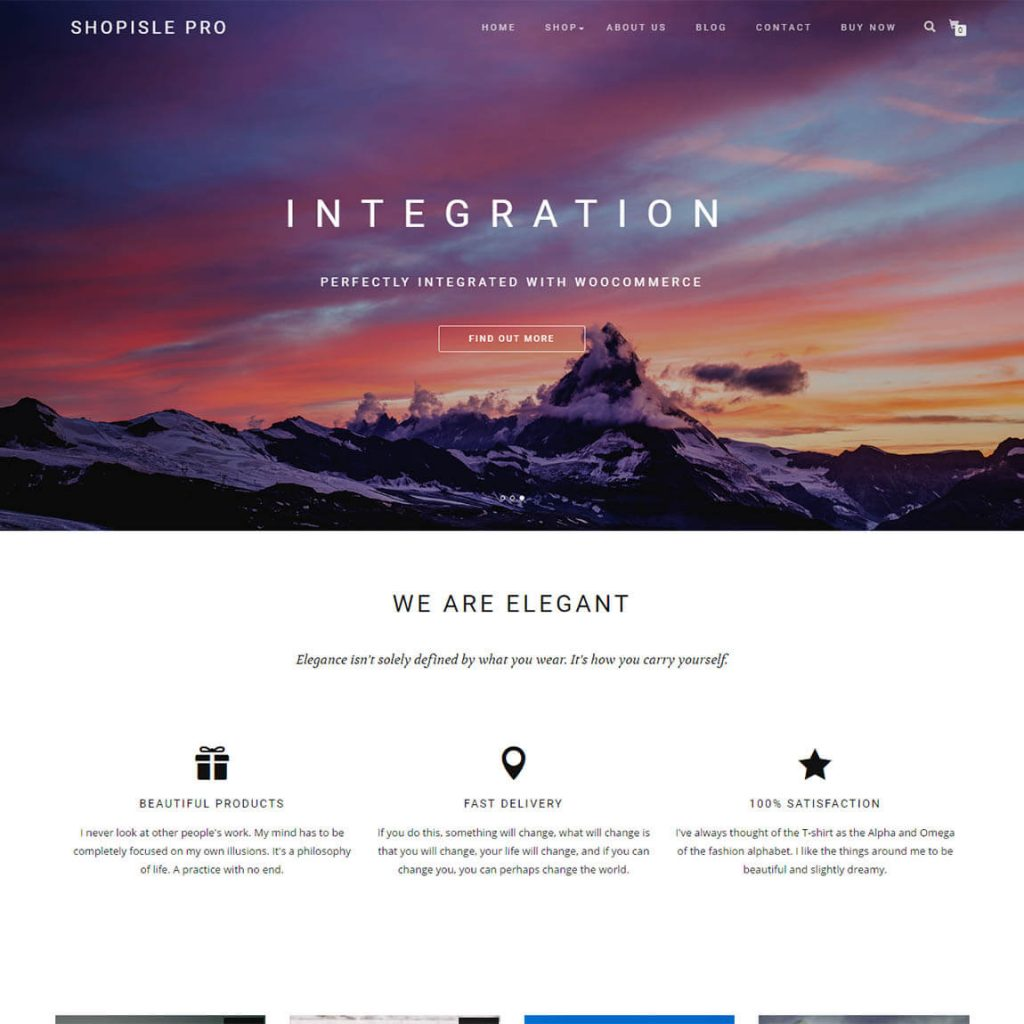 ShopIsle PRO - ecocommerce wordpress theme