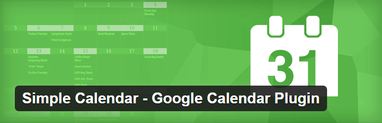 Simple Calendar Google Calendar Plugin — WordPress widget plugin