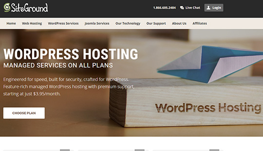Siteground wordpress hosting managed