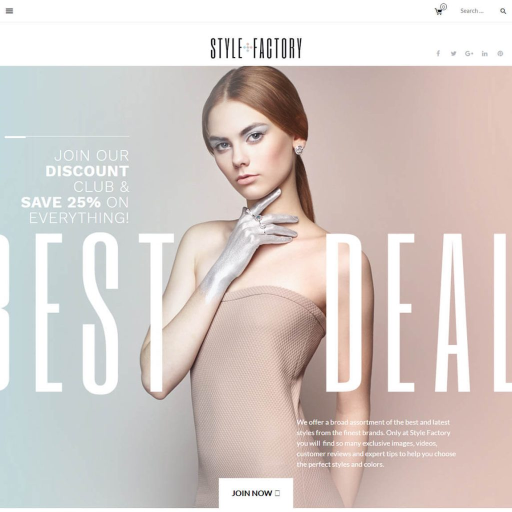 StyleFactory-style WooCommerce theme
