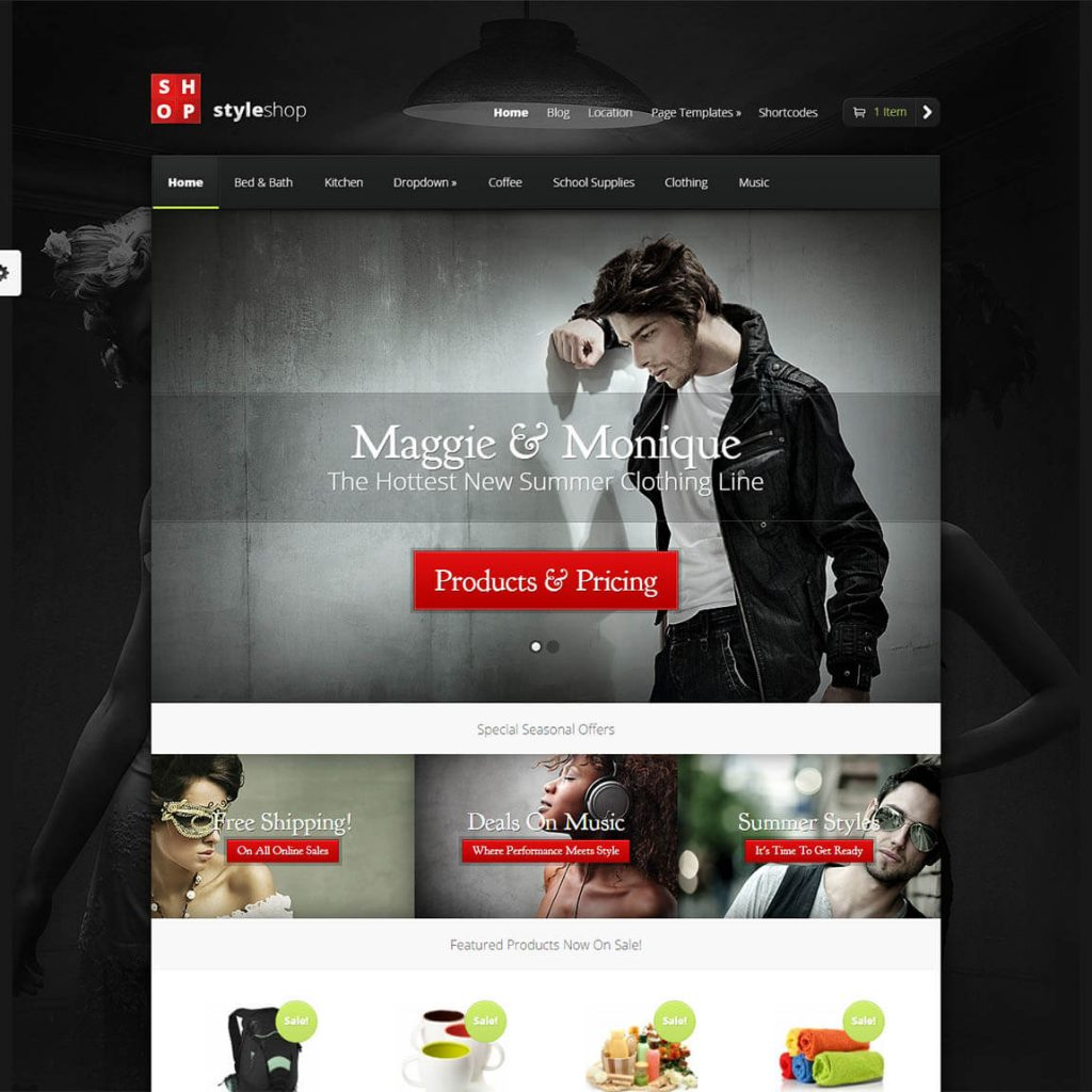 StyleShop Theme best ecommerce wordpress theme