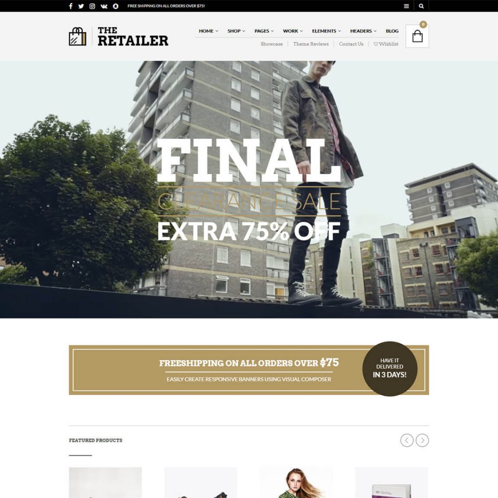The Retailer – Premium eCommerce WordPress theme