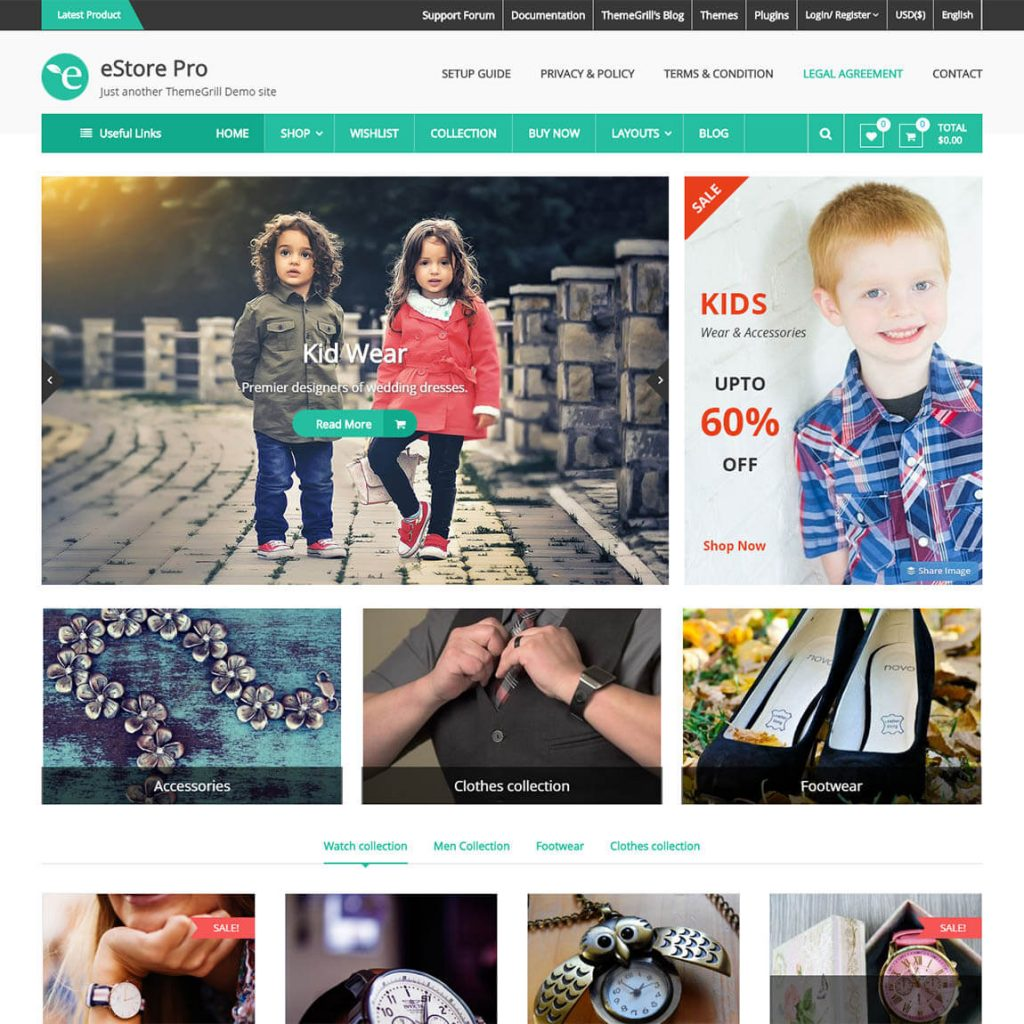 eStore- Best WordPress WooCommerce theme