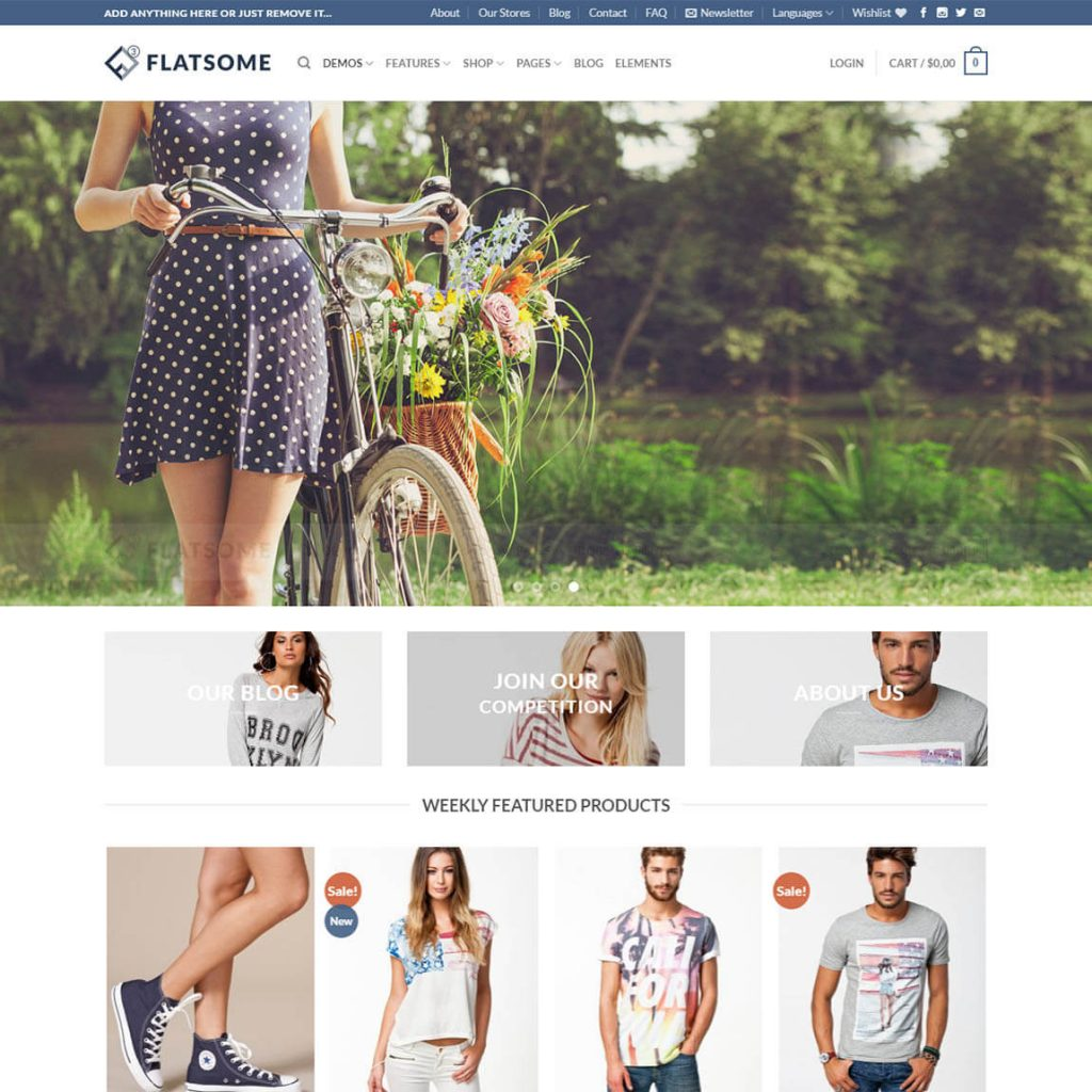 flatsome classic shop wp theme