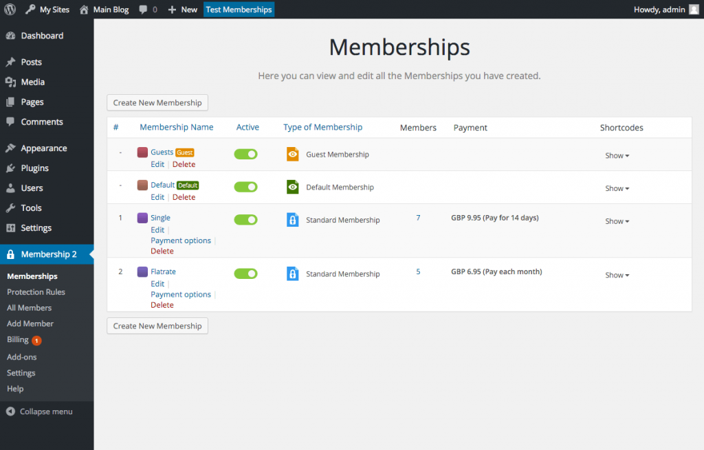 membership 2 - wordpress plugin-membership types