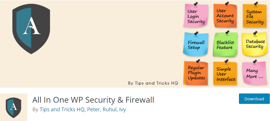 All In One WP Security Firewall WordPress Plugins